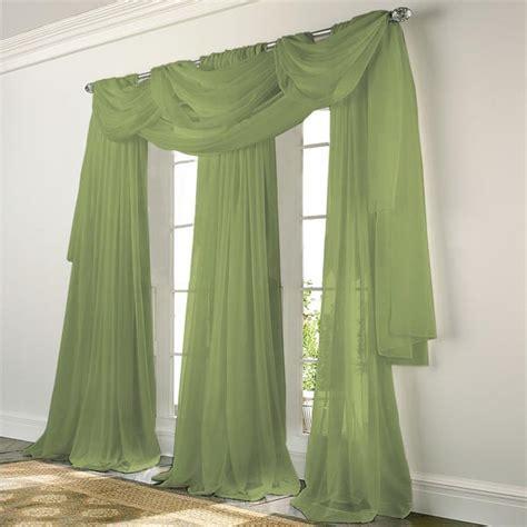 Elegance Voile SAGE GREEN Sheer Curtain: BedBathHome.Com