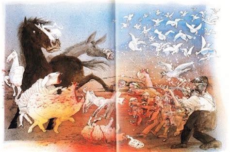 ralph steadmans illustrations  george orwells classic