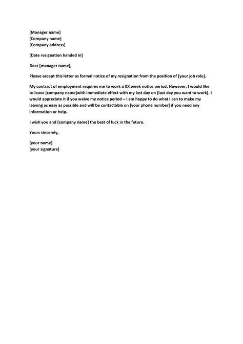 Notice Letter Template Best TemplateFormal Letter Template Business Letter Sampl…   Downloadable