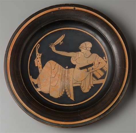 harvard art museums collections plate woman