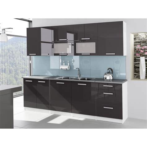cuisine en kit castorama cuisine complète 2m60 laquée grise tara design moderne