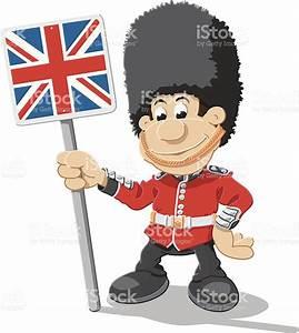 British Royal Guard Cartoon Man Union Jack Isolated stock ...