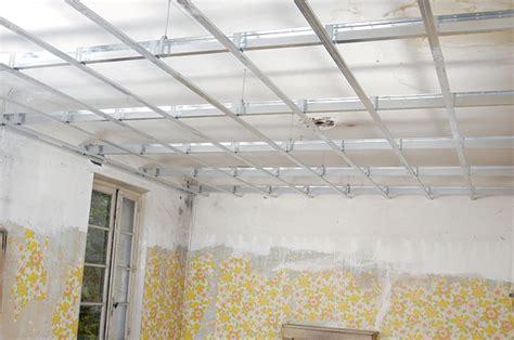 abaisser  plafond maison travaux