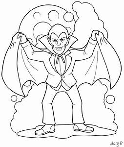 Dessin Halloween Vampire : coloriage d 39 halloween un vampire coloriages ~ Carolinahurricanesstore.com Idées de Décoration