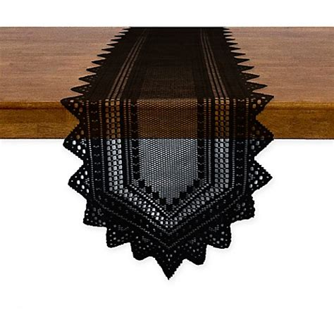 72 inch table runner buy nordic 72 inch lace table runner in black from bed