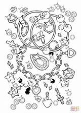 Coloring Pages Bracelet Diamonds Pendant Printable Dot sketch template