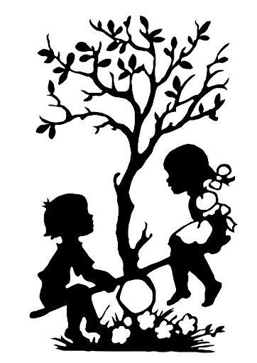 Balancing ~ Tree of life ~ Children ~ Silhouette | Pochoir