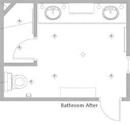 bathroom floor plan bathroom floor plan after