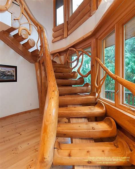 Einfamilienhaus Rustikale Holztreppe by 148 Best лестницы из бревна Images On Home