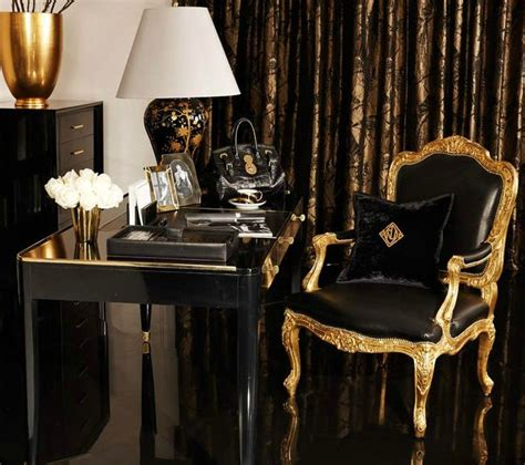 black and gold interior stylish home ralph lauren home one fifth collection