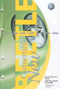 volkswagen  beetle convertible owners manual