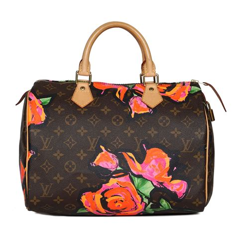 louis vuitton stephen sprouse roses speedy  labelcentric
