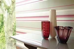 moderne tapeten bilder ideen With markise balkon mit 3d tapete für dachschräge