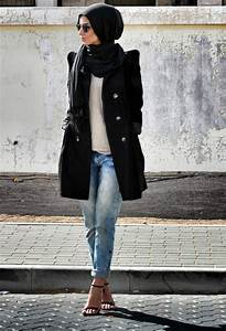 Latest Women Casual Hijab Styles with Jeans Trends 2017-2018