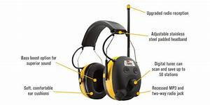 Peltor Worktunes Digital Am Fm Mp3 Radio Headphones