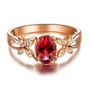 tourmaline engagement rings aliexpress buy butterfly ring vvs tourmaline ring gemstone engagement ring 18k