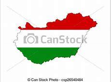 Hungary flag map Hungary country flag map shape national