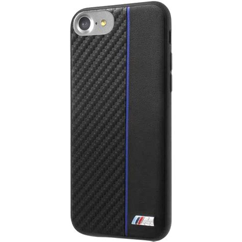 Official Bmw Sport Real Carbon Blue Stripe Hard Case