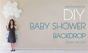 DIY Baby Shower Backdrop - YouTube