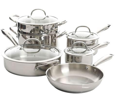 kenmore elite devon  pc stainless steel cookware set qvccom