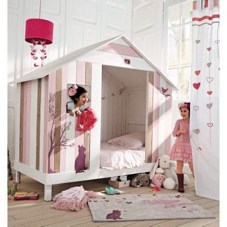 cabane chambre fille lit cabane enfant lit surelevé pour fille et garçon lit