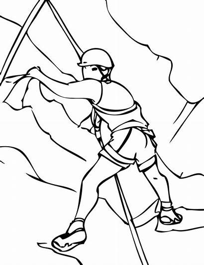 Coloring Rock Climbing Pages Mountain Drawing Sports