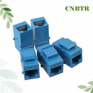 Cnbtr 5pcs Cat6 Rj45 Gigabit Coupler Female Adapter