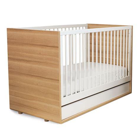 modern crib pkolino luce convertible crib in wood white