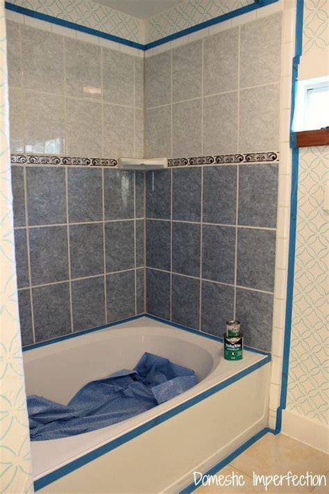 How To Refinish Bathroom Tile by How To Refinish Outdated Tile Yes I Painted My Shower