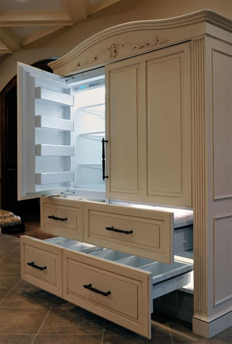 how to make your fridge look like a cabinet fancy refrigerator armoire