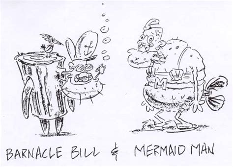 hillenburgs concept art mermaid man barnacle bill