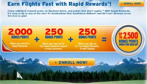 southwest rapid rewards promotion   points