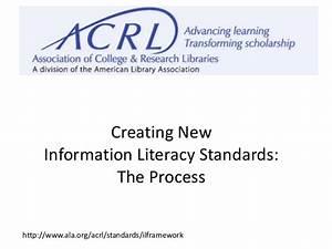 ACRL's New Information Literacy Standards