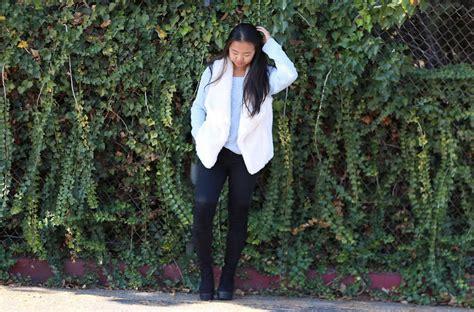 Brandy Melville Usa Light Pastel Blue Sweater, Calvin Klein Fuzzy White Faux Fur