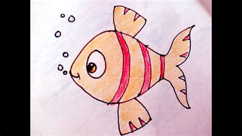 draw and color drawing how to draw fish and colour for