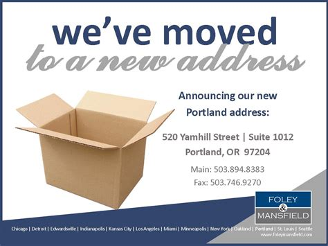 foley mansfield relocates portland office foley