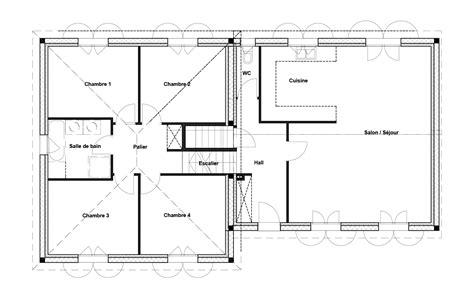 maison 4 chambres plan maison 4 chambres maison moderne