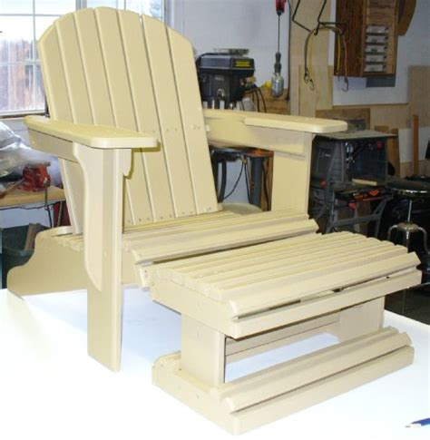build your own adirondack chair with footstool pattern