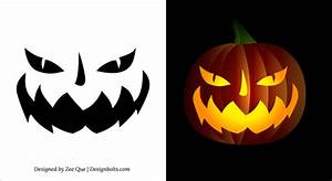 10, Free, Printable, Scary, Pumpkin, Carving, Patterns, Stencils, U0026, Ideas, 2014