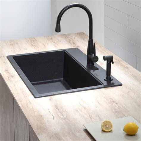 Black Drop In Kitchen Sink by Kraus Kgd412b 31 Inch Undermount Drop In Single Bowl