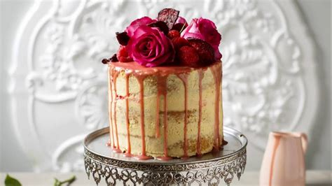 white chocolate raspberry naked drip cake youtube
