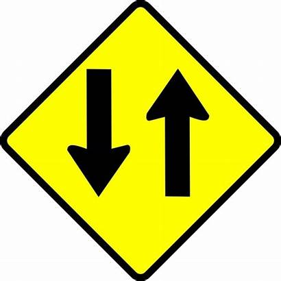 Clip Caution Way Street Vector Svg 13kb