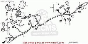 Honda Cn250 Helix 1991 Italy    Kph Wire Harness