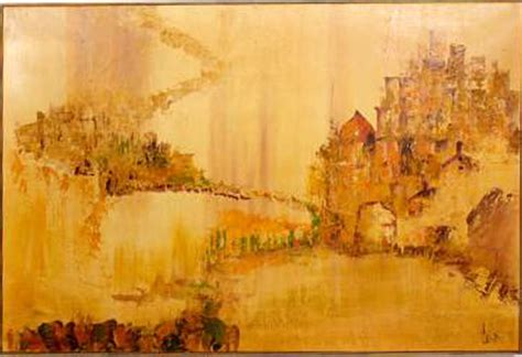 large mid century carlo  hollywood painting modernism