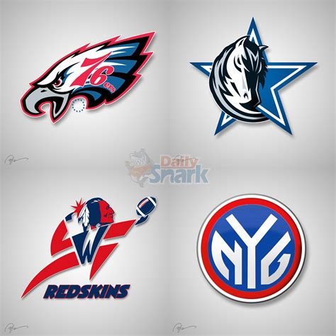 cool nfl mlb logo combinations  football frenzy