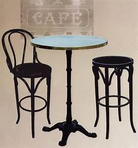 Pied De Table Haute : table de bistrot mange debout flix monge ~ Dailycaller-alerts.com Idées de Décoration