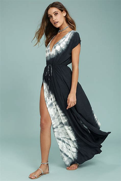 Restock Miyake Dress Salt boho midnight blue tie dye dress maxi dress casual