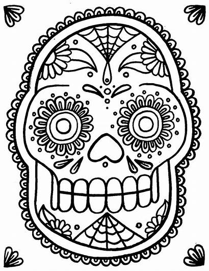 Skull Coloring Sugar Pages Skulls Wenchkin Dead