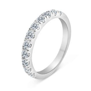 sk inc 1 2ctw diamond wedding band in 10k white gold