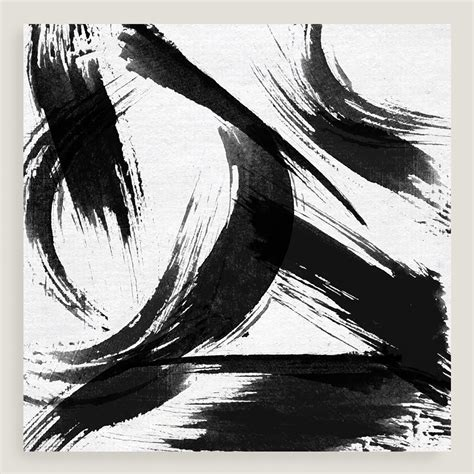 Black And White Canvas Painting Abstract by Black And White Abstract Canvas Wall World Market